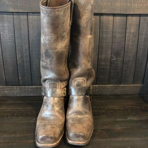 Frye 15R harness boot - chocolate vintage leather